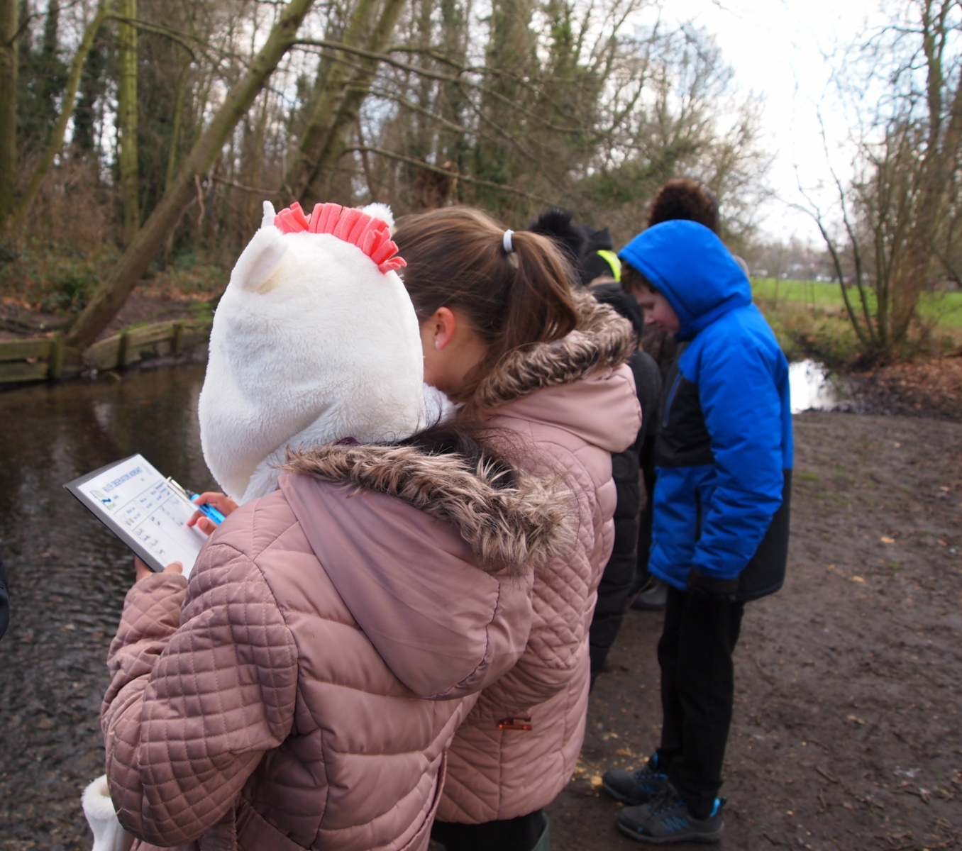 River observations with Holy Trinity Junior School, Year 6